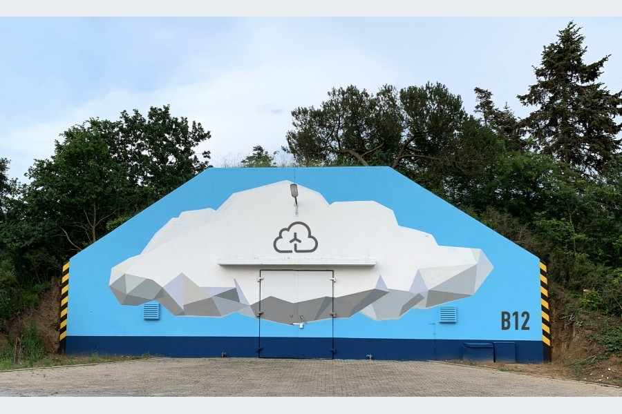 "Windcloud-""Datenbunker"" in Enge-Sande. Quelle: Windcloud 4.0"